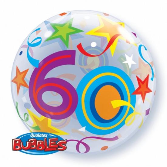 Feestartikelen diversen Folie ballon met helium 60 jaar