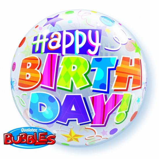 Folie ballon met helium Happy Birthday Qualatex Feestartikelen diversen