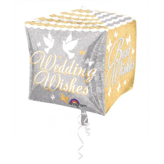Folie ballon Wedding Wishes 38 cm Folat Feestartikelen diversen