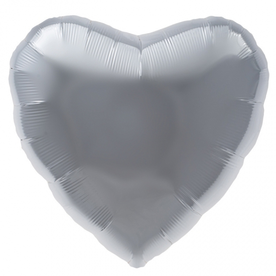 Bierfeest artikelen Folie ballon zilver hart 45 cm Feestartikelen diversen