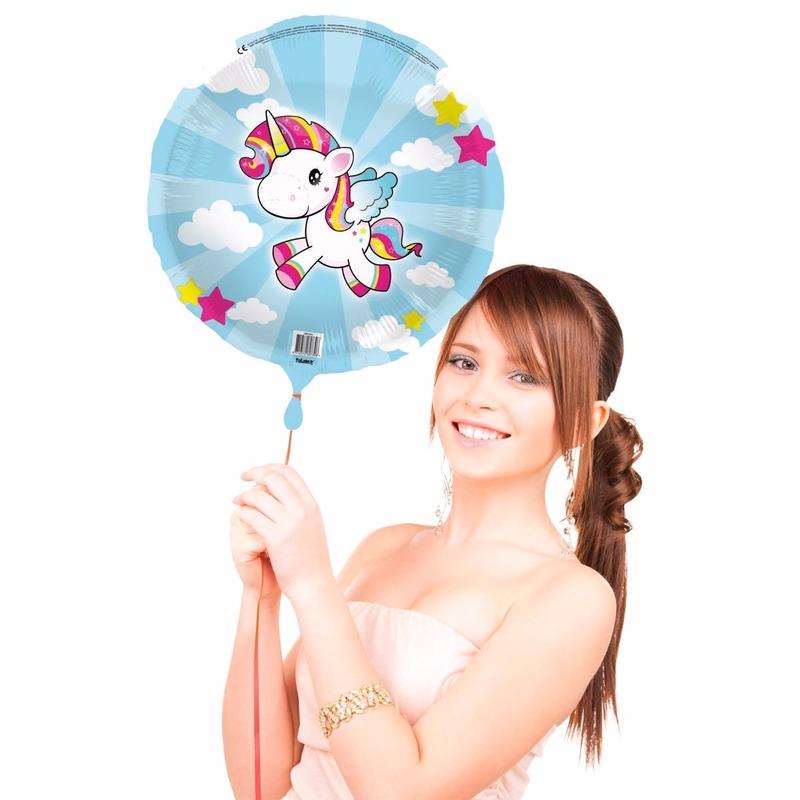 Folieballon met helium eenhoorn Folat Feestartikelen diversen
