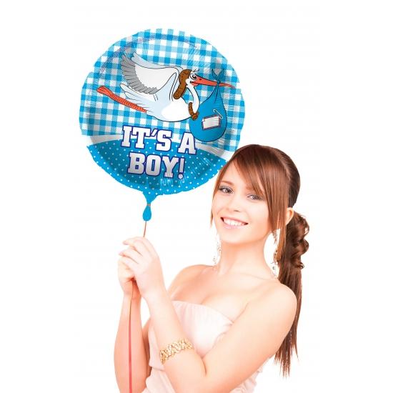 Geboorte feestartikelen Folat Geboorte versiering folie ballon Its a boy