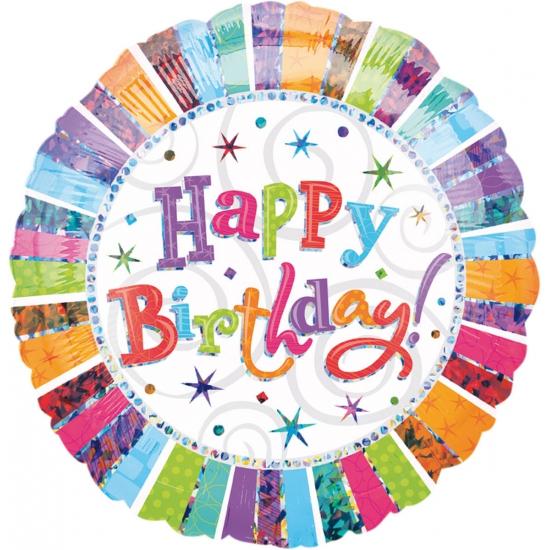 Folat Gekleurde folie ballon Birthday Feestartikelen diversen