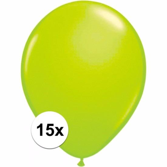 Feestartikelen diversen Shoppartners Groene ballonnetjes 15 stuks