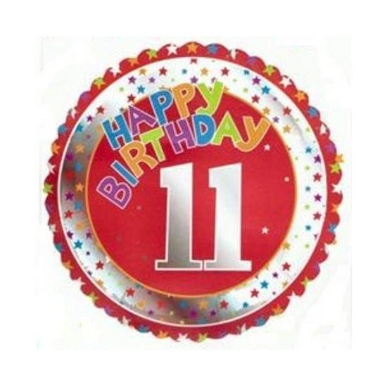 Feestartikelen diversen Bierfeest artikelen Happy Birthday 11 jaar verjaardag