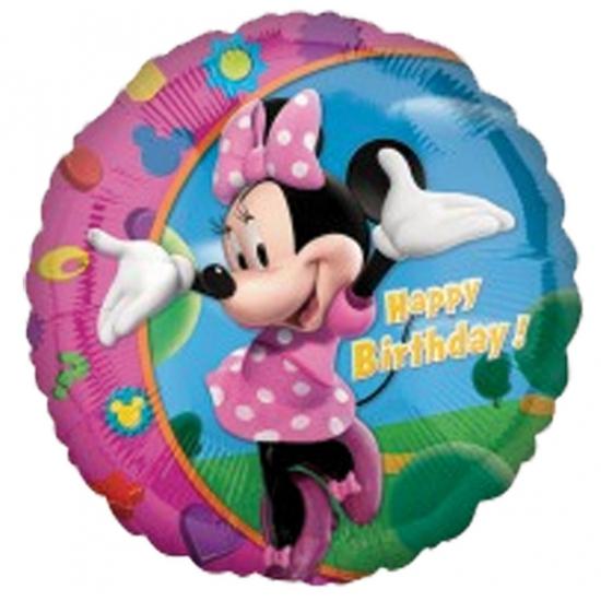 Disney Happy Birthday ballonnen Minnie Mouse 45 cm Feestartikelen diversen