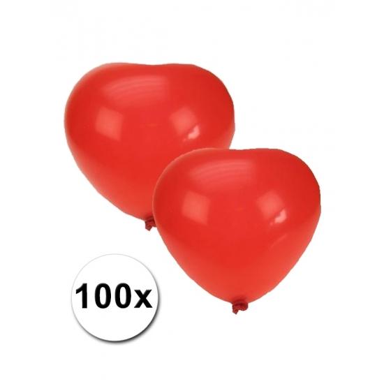 Hartjes ballonnen rood 100 stuks Geen Beste kwaliteit