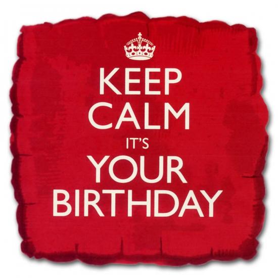 Feestartikelen diversen Bierfeest artikelen Helium ballon keep calm its your birthday
