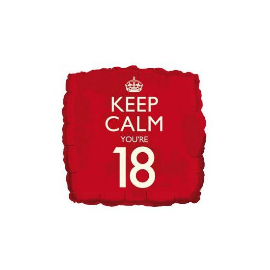 Helium ballon keep calm you are 18 Bierfeest artikelen Feestartikelen diversen