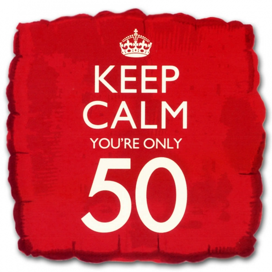 Feestartikelen diversen Helium ballon keep calm you are 50