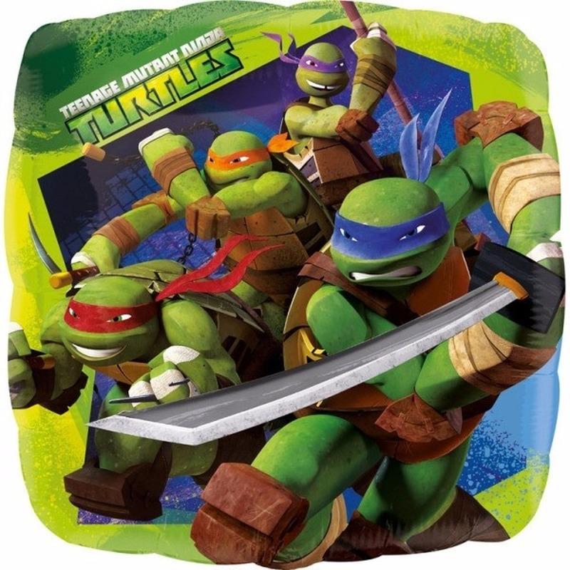Feestartikelen diversen Ninja Turtles Helium ballon met Ninja Turtles print 43 cm