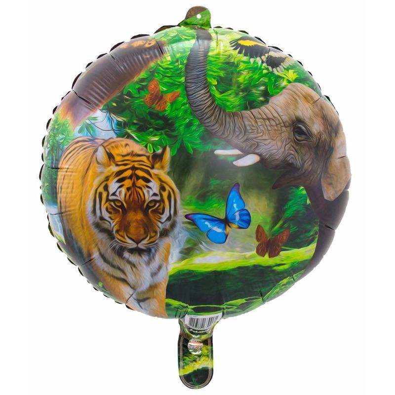 Helium ballon met safari dieren print 45 cm Folat Geweldig