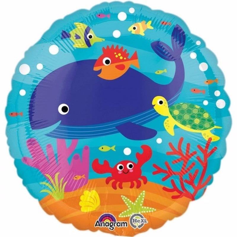 Bumba Helium ballon met zeedieren print 43 cm Feestartikelen diversen