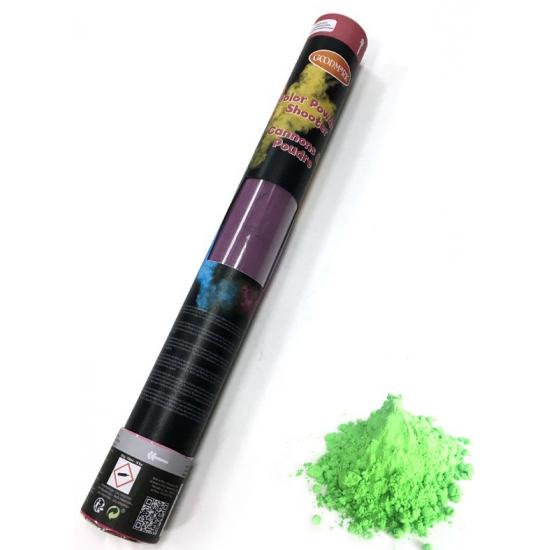 Kleurenpoeder shooters-kanonnen groen 40 cm