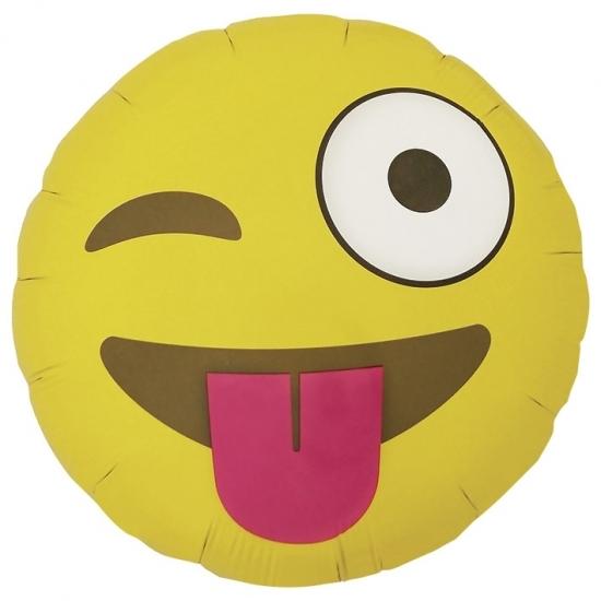 Feestartikelen diversen Knipoogje emoticon folie ballon 46 cm