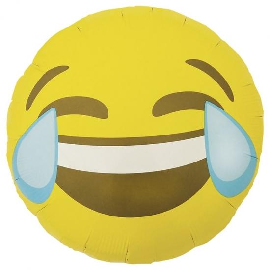 Lachende emoticon folie ballon 46 cm Bierfeest artikelen Koopje