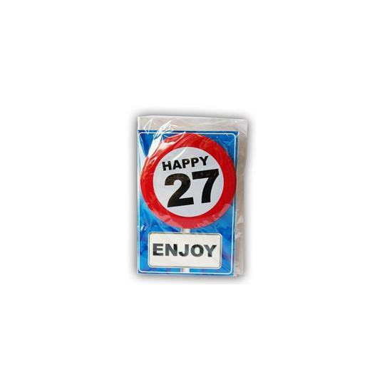 Leeftijd ansichtkaart 27 jaar
