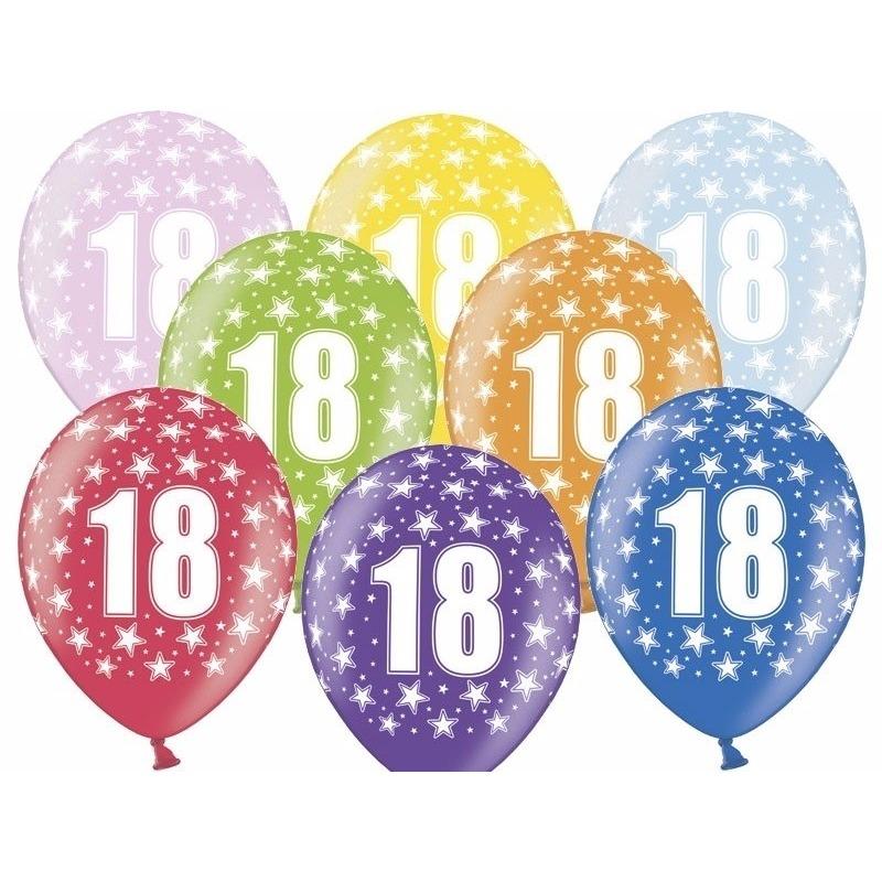 Geen Leeftijd versiering sterren ballonnen 18 Leeftijd feestartikelen