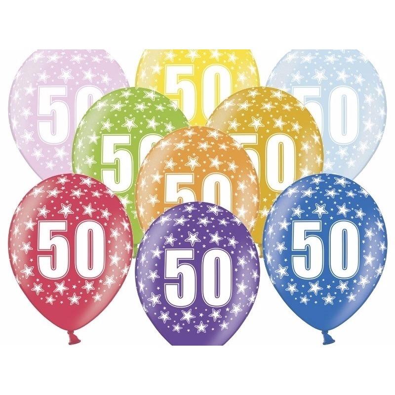 Leeftijd feestartikelen Geen Leeftijd versiering sterren ballonnen 50