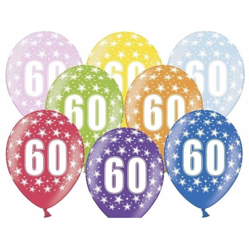 Leeftijd versiering sterren ballonnen 60 Geen Leeftijd feestartikelen