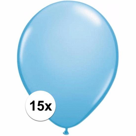 Shoppartners Lichtblauwe ballonnetjes 15 stuks Feestartikelen diversen