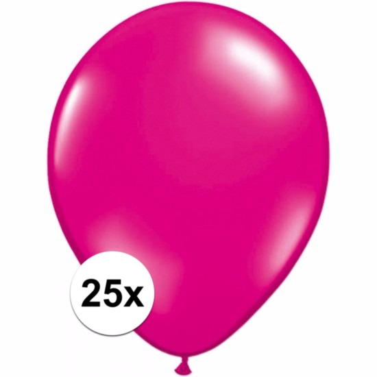Feestartikelen diversen Shoppartners Magenta roze ballonnetjes 25 stuks