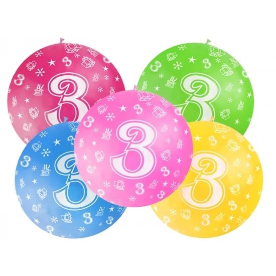 Leeftijd feestartikelen Geen Mega ballon 3 jaar