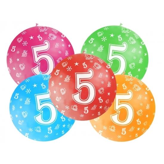 Leeftijd feestartikelen Mega ballon 5 jaar