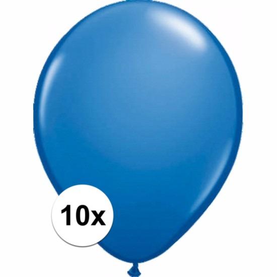 Metallic blauwe ballonnetjes 10 stuks Shoppartners voordeligste prijs