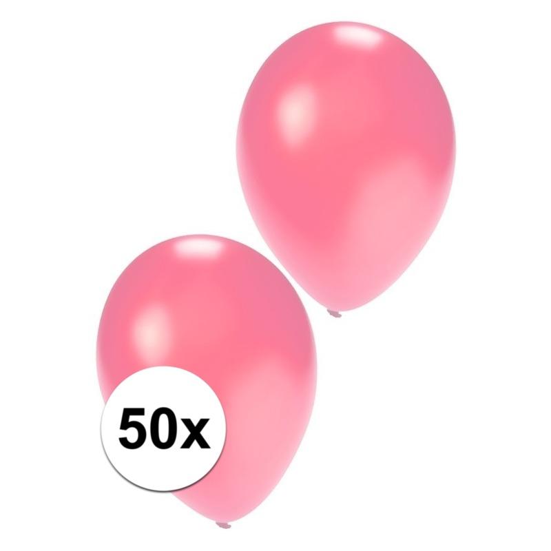 Metallic roze ballonnen 36 cm Geen gaafste producten