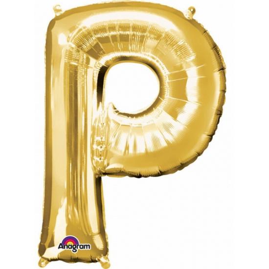 Anagram Naam ballonnen letter P goud Feestartikelen diversen