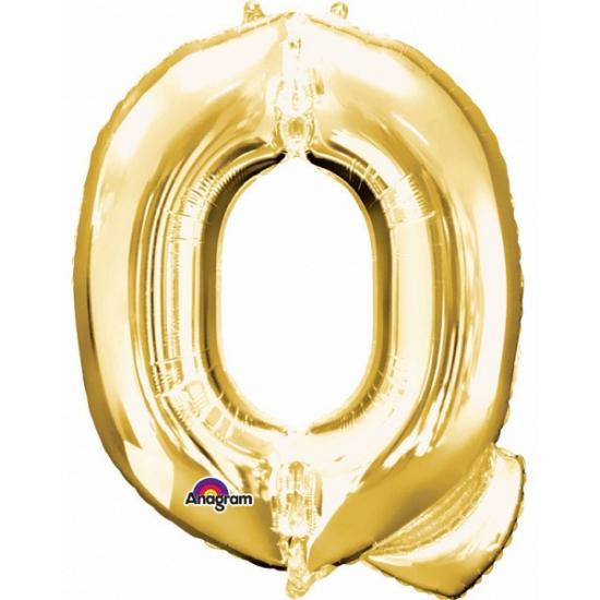 Feestartikelen diversen Anagram Naam ballonnen letter Q goud
