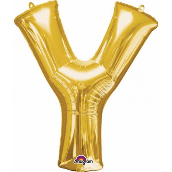 Feestartikelen diversen Anagram Naam ballonnen letter Y goud
