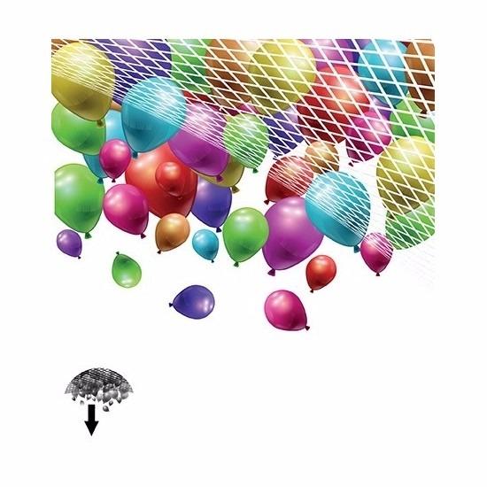 Geen Net om ballonnen laten vallen 200 stuks Feestartikelen diversen
