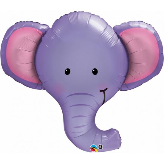 Feestartikelen diversen Bierfeest artikelen Olifant dieren folie ballon 90 cm