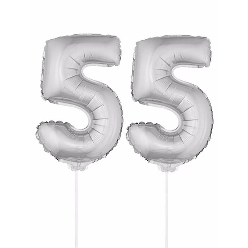 Leeftijd feestartikelen Bierfeest artikelen Opblaas cijfer 55 folie ballon 41 cm
