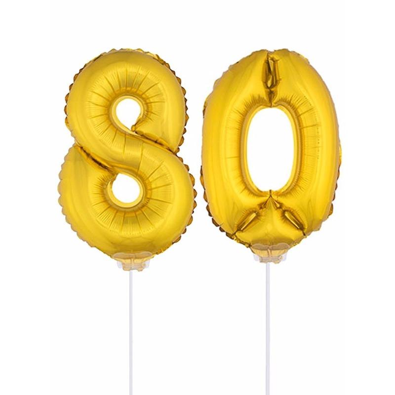 Leeftijd feestartikelen Opblaas cijfer 80 folie ballon 41 cm