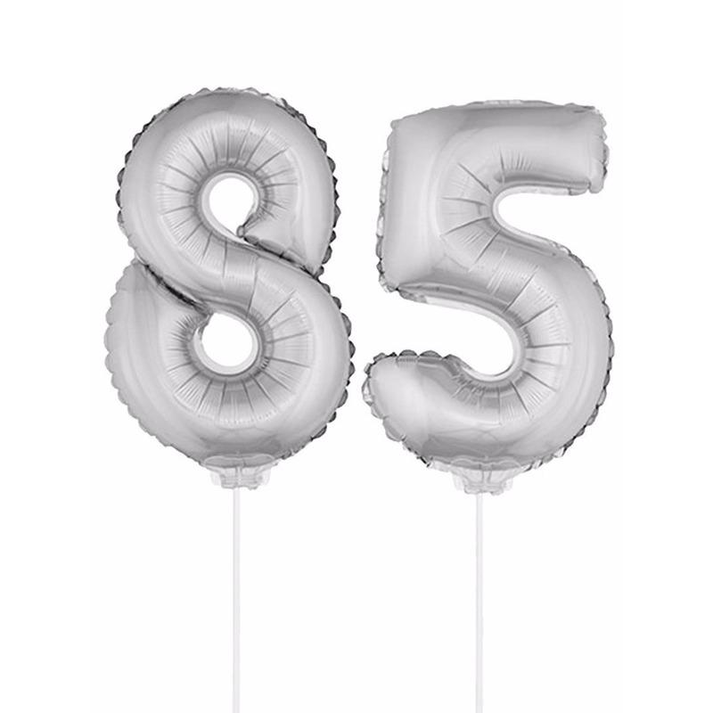 Bierfeest artikelen Opblaas cijfer 85 folie ballon 41 cm Leeftijd feestartikelen