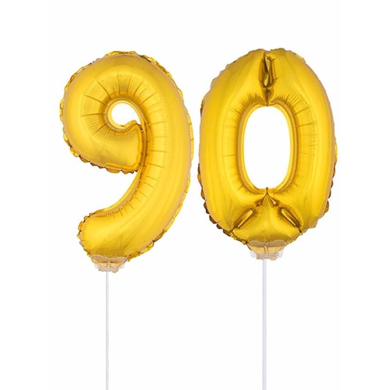 Opblaas cijfer 90 folie ballon 41 cm Bierfeest artikelen Leeftijd feestartikelen