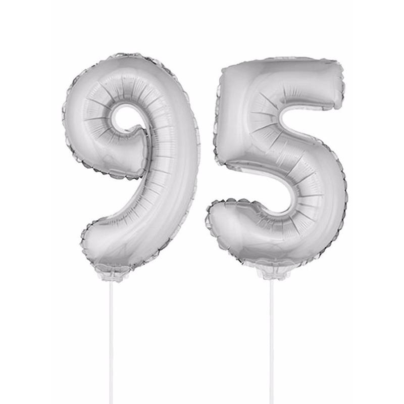 Leeftijd feestartikelen Bierfeest artikelen Opblaas cijfer 95 folie ballon 41 cm