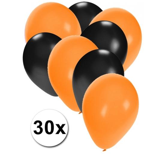 Oranje en zwarte feestballonnen 30x
