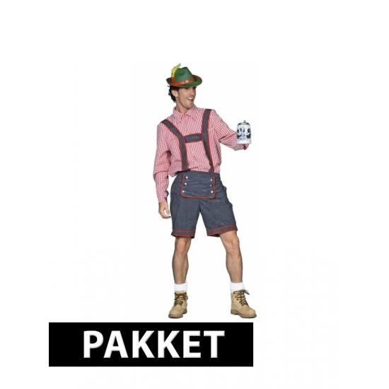 Pakket met Tiroler kleding voor heren maat L