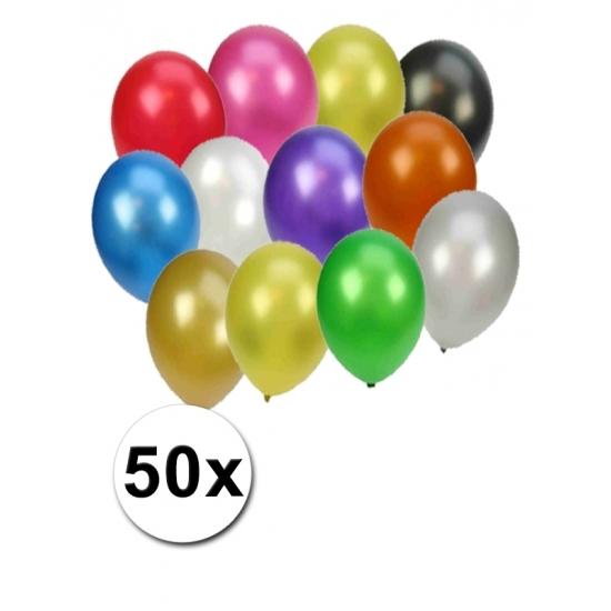 Feestartikelen diversen Geen Party ballonnen metallic gekleurd
