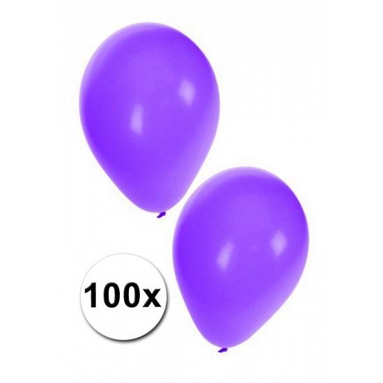 Feestartikelen diversen Party ballonnen paars, 100 st