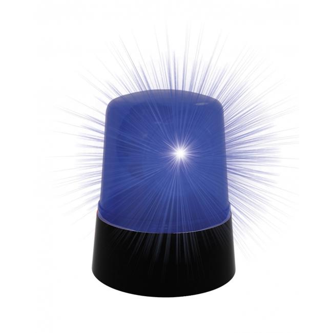 Politie auto lamp blauw 10 cm