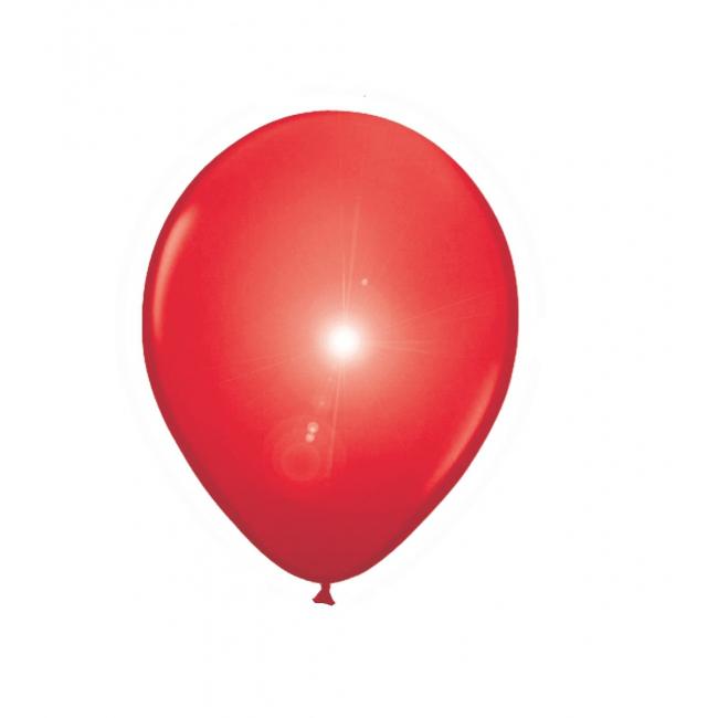 Feestartikelen diversen Geen Rode ballonnen met LED verlichting 5 stuks