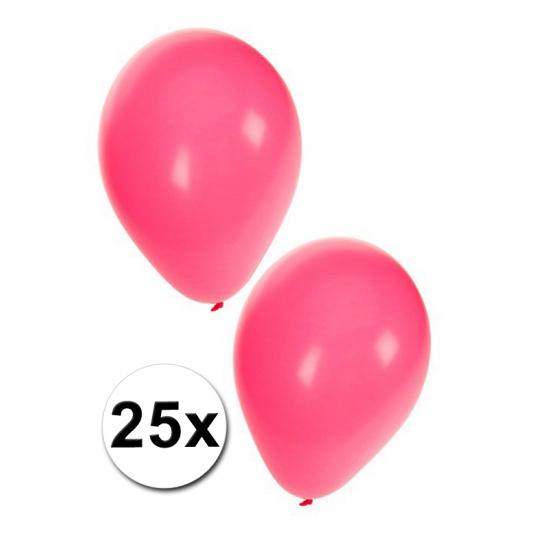 Roze ballonnen in zakje van 25 stuks Shoppartners Feestartikelen diversen