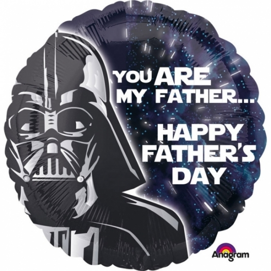 Kinderfeestjes Star Wars Star Wars vaderdag helium ballon 43cm