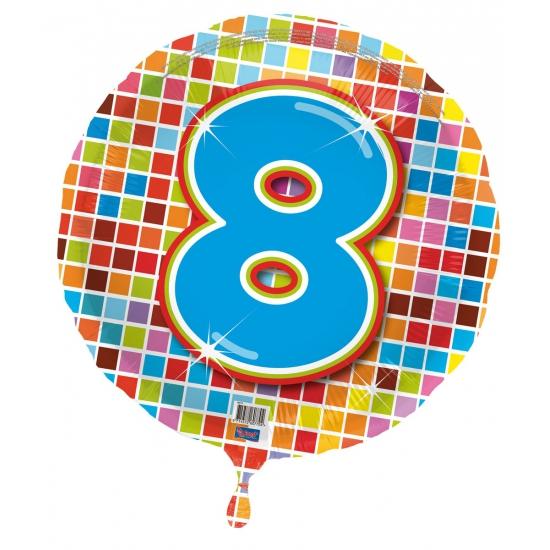 Geen Verjaardagsballon 8 jaar helium Leeftijd feestartikelen
