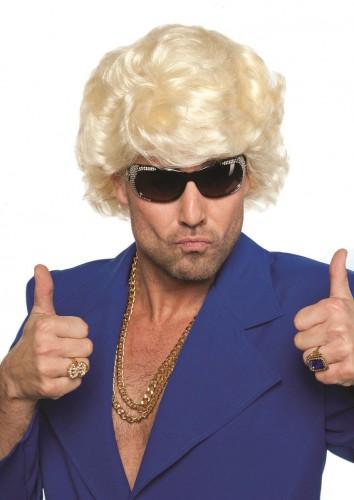 Volle blonde pruik voor mannen Bierfeest artikelen te koop